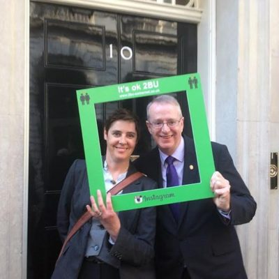 2BU leaders Andrew Wilson and Lisa Snowdon-Carr attending Downing Street reception