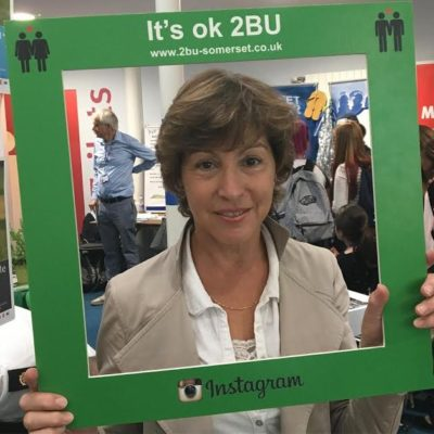 Taunton MP Rebecca Pow posing with 2BU sign – whether Pow continues to support 2BU is unknown.